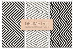 Geometric Seamless Patterns Set 10 by Curly_Pat on @creativemarket