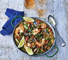 Paella is the perfect summer sharing dish for having friends and family over...