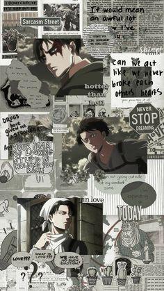 Wallpaper Animé, Wallpaper Fofos, Cute Anime Wallpaper, Anime Backgrounds Wallpapers, Animes Wallpapers, Cute Wallpapers, Attack On Titan Aesthetic, Attack On Titan Levi, Anime Collage