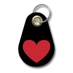 Schlüsselanhänger Herz. Filz Schlüsselanhänger mit einem Herz als Aufdruck