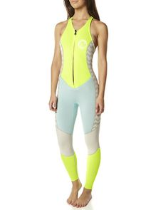 SURFSTITCH - SURF - WETSUITS - WOMENS SPRING SUITS - BILLABONG SKINNY JANE SPRING SUIT - LEMON TWIST