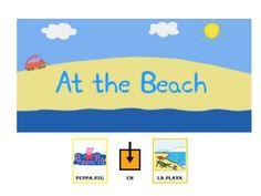 Cuento Peppa pig en la playa