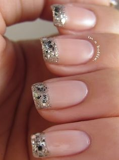 silver and pink wedding nails #silver #pink #wedding #nails See more http://www.weddingmuseum.com/weddingblog/