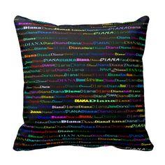 Diana Text Design I Throw Pillow