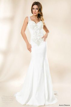 """Today's collection is courtesy of Alice Design, a bridal house based in Romania. Designed by Alina Gheorghe, the 2014 bridal collection """"Vintage Wedding Dresses 2014, Cheap Wedding Dress, Bridal Dresses, Wedding Gowns, Trumpet Style Wedding Dress, Romanian Wedding, Most Beautiful Dresses, Maid Dress, Bridal Collection"""
