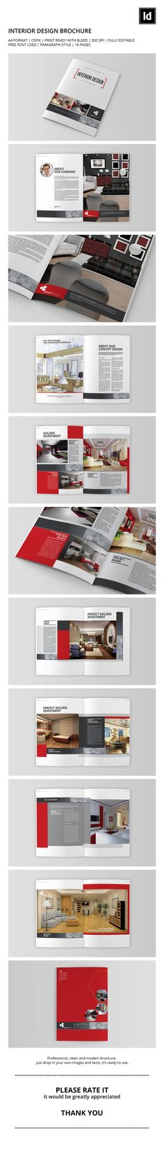 Interior Design Brochure  Brochures Interiors And Editorial