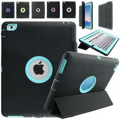 For Apple iPad 2 iPad 3 iPad 4 Retina Kids Safe Armor Shockproof Heavy Duty Silicone Hard Case Cover w/Screen Protector Film