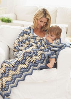 Granny Goes Ripple afghan crochet pattern