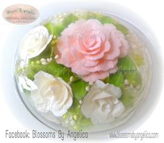 Jelly art pudding Mirror Cakes, Jelly Flower, Jelly Cake, Jello, Cake Designs, 3 D, Pudding, Tools, Drink