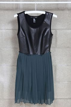 FAUX LEATHER PLEATED DRESS http://findanswerhere.com/dresses
