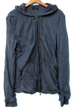 LANVIN SILK JERSEY HOODIE JACKET SIZE M | Clothing, Shoes & Accessories, Men's Clothing, Sweats & Hoodies | eBay!