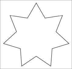 Printable Star Template 583x564