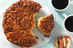 Ridiculously Easy No-Knead Sticky Buns Golden sticky buns with a spiral of cinnamon filling and a topping of crunchy pecans. Bun Recipe, Dough Recipe, Recipe King, Brunch Recipes, Breakfast Recipes, Breakfast Pastries, Breakfast Ideas, Breakfast Muffins, Sweet Recipes