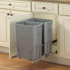 Knape & Vogt 18.75 in. x 14.38 in. x 22.57 in. In Cabinet Pull Out Trash Can-PSW15-2-35-R-P at The Home Depot
