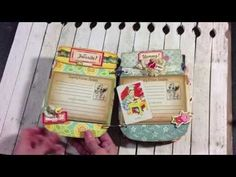 A video demonstrating a super cute Mason Jar Recipe Album Kit.