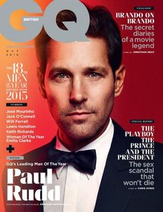 Paul Rudd on the cover of British GQ (Oct 2015)