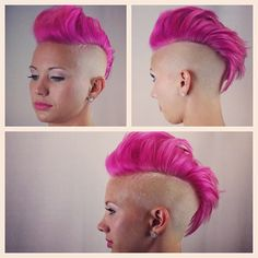 Look two #mohawk #undercut #fade #barber #pink #fernthebarber #paulmitchell