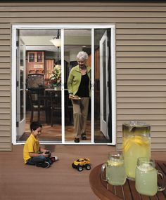 Do you have french doors, or double hinged doors, leading out to your patio? If so, this double door Brisa retractable screen option might be perfect for you this summer. No more swinging open the doors only to be greeted by a swarm of bugs and mosquitos. With Brisa's screens, only the air gets in — that means no insects, no leaves, no wildlife. Enjoy everything the warm summer months have to offer without the worry of bug bites. Available on InHouz.com