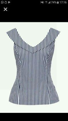 Jolene stripe top fashion outfits blouse, fashion e tops Blouse Styles, Blouse Designs, Blouse Outfit, Mode Inspiration, Refashion, Dress Patterns, African Fashion, Designer Dresses, Cool Outfits