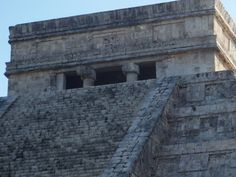 The Upper Temple of the Jaguar sits on the east side of the Great Ball Court.  Chichen Itza, Yucatan, Mexico.  Go to http://www.yourtravelvideos.com/view.php?view=121007 or click on photo for video and more on this site.