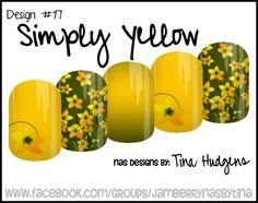 Jamberry NAS Design by Tina Hudgens, Design #17 Simply Yellow
