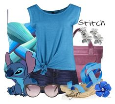 """Stitch - Summer - Disney's Lilo and Stitch"" by rubytyra ❤ liked on Polyvore featuring South Beach, Gottex, dELiA*s, Fresh Made, Jean-Michel Cazabat, Marc by Marc Jacobs, Summer, disney, disneybound and liloandstitch"