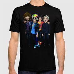 Old Scholl band T-SHIRT  @pointsalestore Society6 #tshirt #tee #clothing #oil #popart #streetart #music #caricature #parody #people #marshall #rockandroll #rock #cartoons #comedy #humor #classic #rasta #movelikejagger