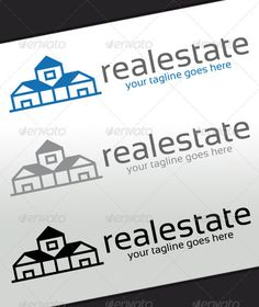 Real Estate Logo — Vector EPS #building #corporate • Available here → https://graphicriver.net/item/real-estate-logo/2490824?ref=pxcr