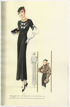 1930s French fashion plate