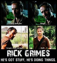 stuff and things Rick Grimes. Andrew Lincoln. Walking Dead. this is obviously one of my favorite things about TWD. besides daryl