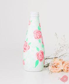handmade painted bottle