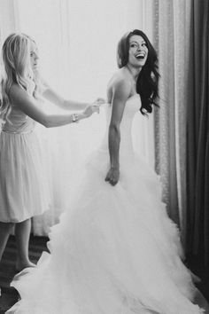 A bride and her BFF: http://www.stylemepretty.com/gallery/picture/1311176/