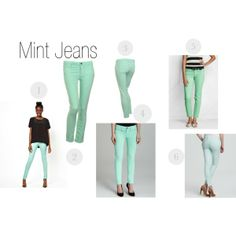 """""""Mint Jeans"""" by tooheyi on Polyvore"""