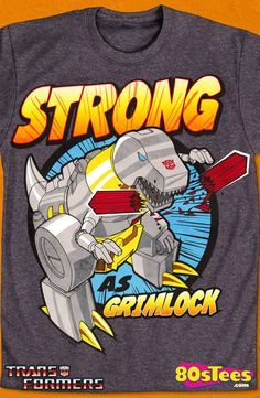 Grimlock Father's Day Transformers T-Shirt: Transformers Mens T-Shirt Transformers geeks:  Travel everywhere in this men's style shirt that has been designed with great art and illustration.