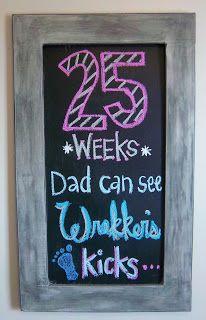 Pregnancy Chalkboard: Week 25
