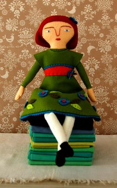 Mimi Kirchner's Hand Sewn FeltDoll - Knitting Crochet Sewing Crafts Patterns and Ideas! - the purl bee