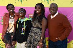 Nickelodeon's 26th Annual Kids' Choice Awards - Arrivals - Deborah Lee-Roberts, Nicholas Roker, Leila Roker, And Al Roker
