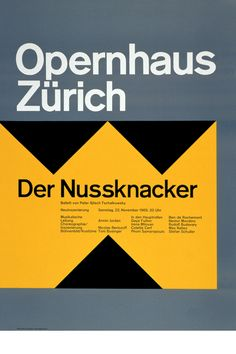Josef Muller Brockmann. The uber grid-meister and all-round Daddy of Swiss design.    For more Swiss Typographic Style posters by Muller Brockmann, Otl Aicher and co, see blanka.co.uk