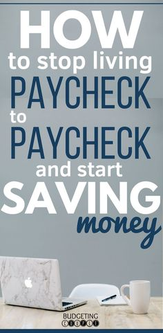 Learn step by step how to stop living paycheck to paycheck so you can finally start saving money every single month! With this one simple thing you can save money every month on autopilot even while paying down debt. Get out of your paycheck to paycheck Save Money On Groceries, Ways To Save Money, Money Tips, Money Saving Tips, How To Manage Money, Money Budget, Money Hacks, Money Savers, Frugal Living Tips