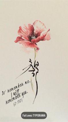 Chinese Writing Tattoos, Chinese Character Tattoos, Watercolor Dragonfly Tattoo, Poppies Tattoo, Feather Tattoos, Flower Tattoos, Body Art Tattoos, Side Boob Tattoo, Aquarell Tattoos