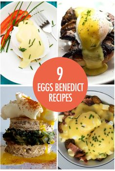 9 Eggs Benedict Recipes Whether you're entertaining at home or cooking for yourself, these 9 twists on the classic eggs benny recipe are perfect for breakfast and brunch. Egg Recipes, Brunch Recipes, Brunch Menu, Brunch Ideas, Canadian Food, Canadian Recipes, Breakfast Time, Breakfast Pizza, Breakfast Bowls