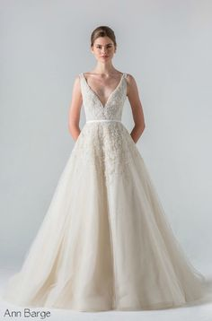 There is no wrong way to go with an elegant plunging neck line. Check out 2016 wedding dress trends to make sure you look amazing on your day.