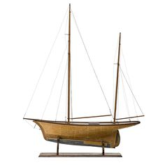 A large wooden pond yacht, late… - Fine Decorative Arts & Jewellery - Sotheby's Australia - Antiques Reporter