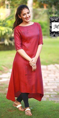 Simple Frock Design, Simple Kurta Designs, Stylish Dress Designs, Stylish Blouse Design, Fancy Blouse Designs, Designs For Dresses, Stylish Dresses, Salwar Designs, New Kurti Designs