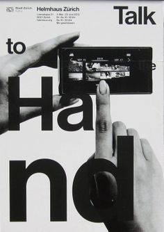 "poster | ""Talk to the Hand"" Helmhaus Zürich"
