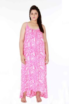 hi-low beach gown (pink)