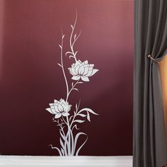 Wall Sticker Growing Flowers | Autocollant mural fleurs grimpantes