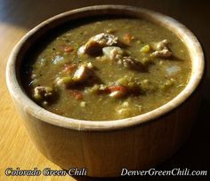 Old Fashioned Colorado Green Chili