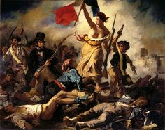 "Eugène Delacroix ""Liberty Leading the People"" Oil on canvas Romanticism Located in the Musée du Louvre, Paris, France The painting commemorates the July Revolution of which. Delacroix Paintings, Liberty Leading The People, Eugène Delacroix, French Revolution, American Revolution, Revolution Poster, Haitian Revolution, Ap Art, Art History"