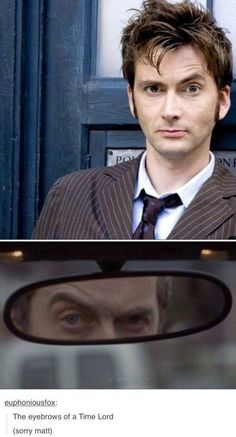 The eyebrows of a time lord